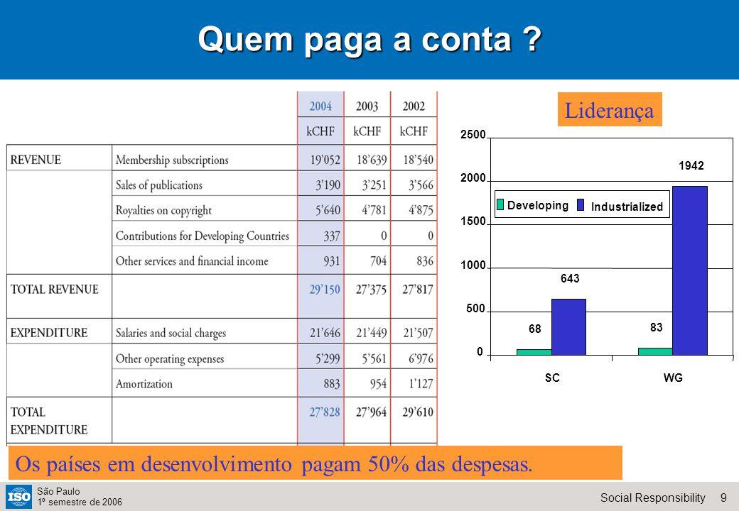 30Social Responsibility São Paulo 1º semestre de 2006 The dream team