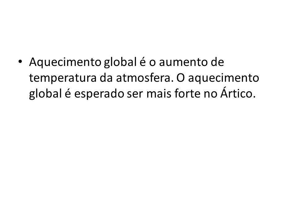 Aquecimento global é o aumento de temperatura da atmosfera.