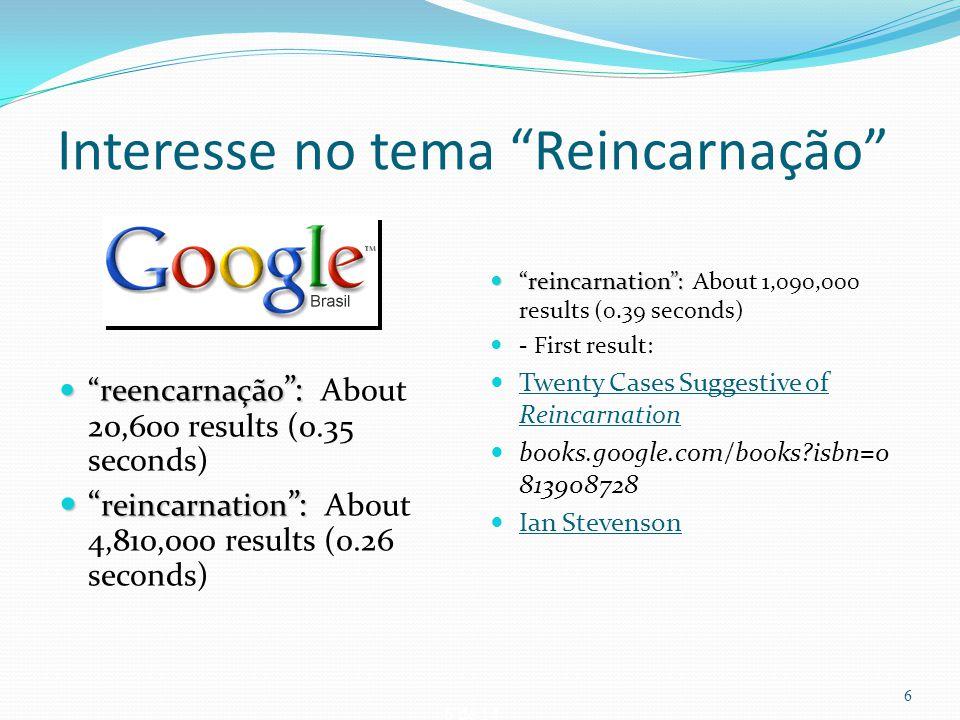 """6 de 14 Interesse no tema """"Reincarnação"""" """"reencarnação """": """"reencarnação """": About 20,600 results (0.35 seconds) """" reincarnation """": """" reincarnation """": A"""