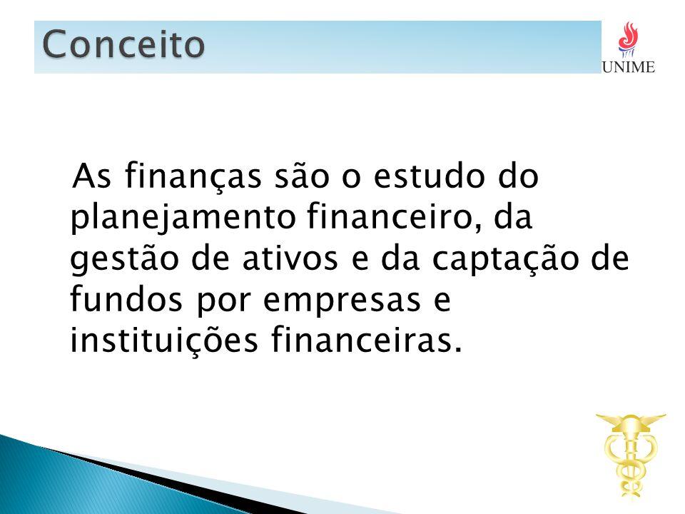 As finanças são o estudo do planejamento financeiro, da gestão de ativos e da captação de fundos por empresas e instituições financeiras.