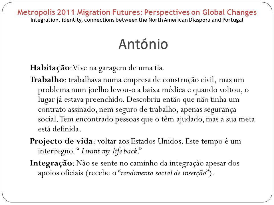 Conclusions The degree of integration of these 4 emigrants is diverse; Their identities are mixed, hybrid, unseparable from their two worlds; Their relationship with their diasporic world (North America) and the place of origin (Portugal, Azores) is difficult, turbulent and paradoxal: their land is the land of emigration; the land where they were born, it is a foreign land that did not embrace them.