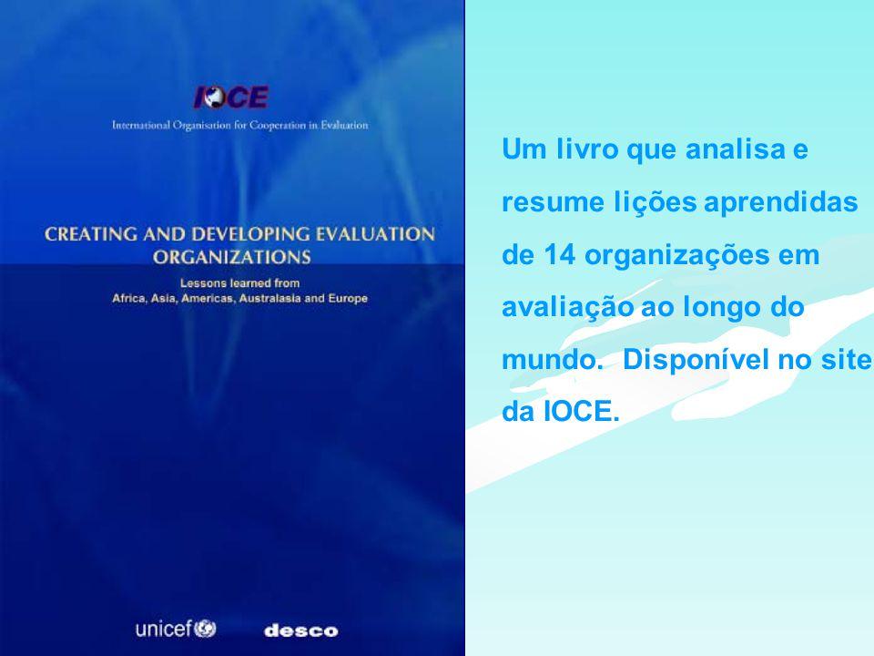 Um livro que analisa e resume lições aprendidas de 14 organizações em avaliação ao longo do mundo.