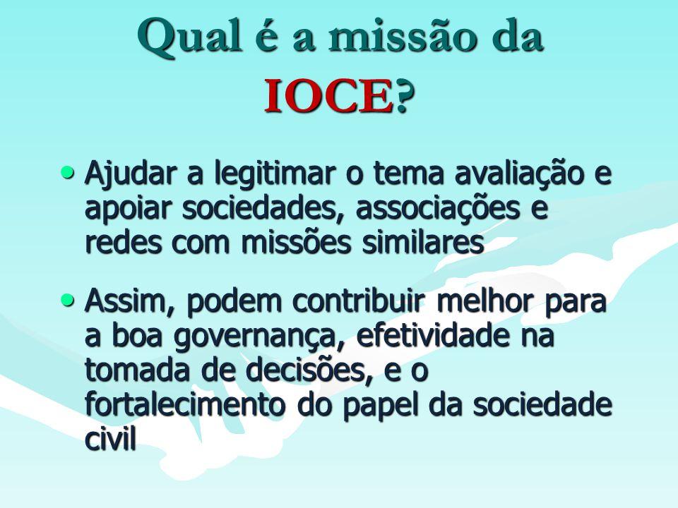 O que a IOCE faz.