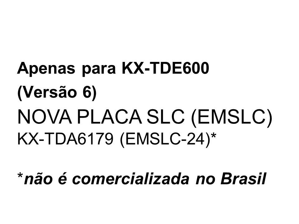 NOVA PLACA SLC (EMSLC) KX-TDA6179 (EMSLC-24)* *não é comercializada no Brasil Apenas para KX-TDE600 (Versão 6)
