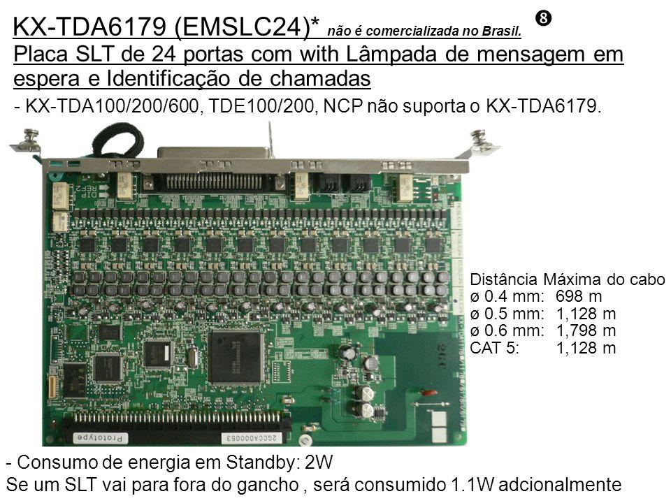 KX-TDA6179 (EMSLC24)* não é comercializada no Brasil.
