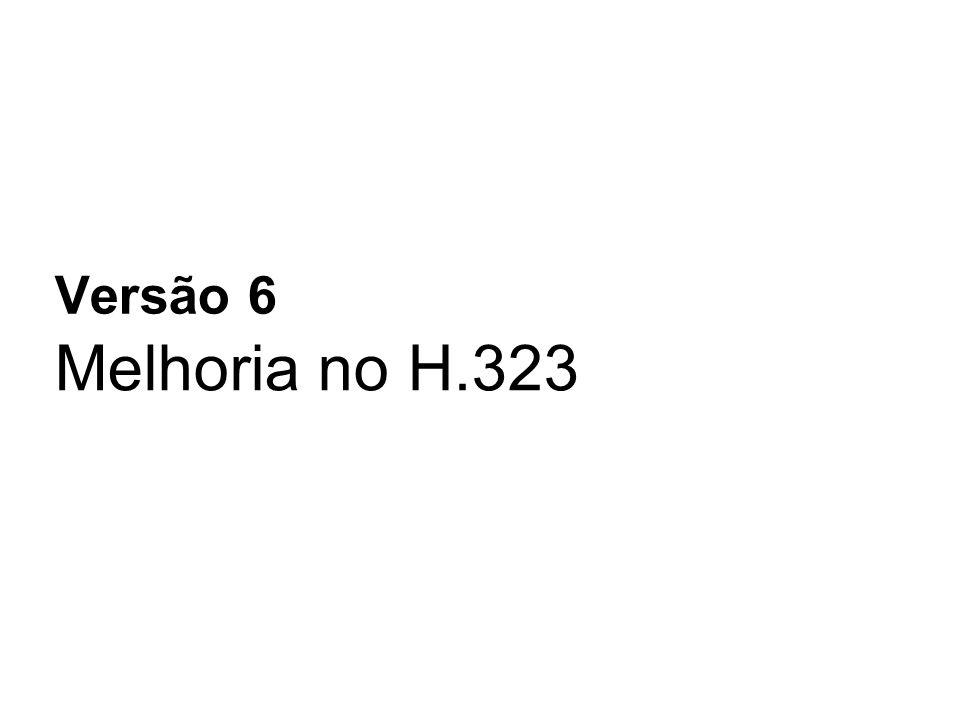 Melhoria no H.323 Versão 6