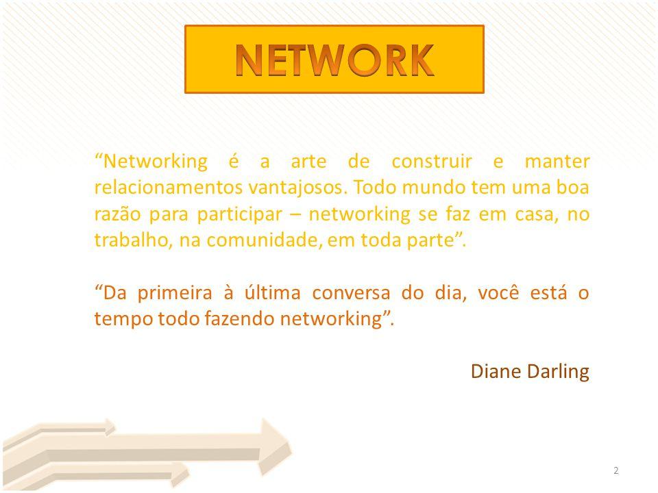 """""""Networking é a arte de construir e manter relacionamentos vantajosos. Todo mundo tem uma boa razão para participar – networking se faz em casa, no tr"""