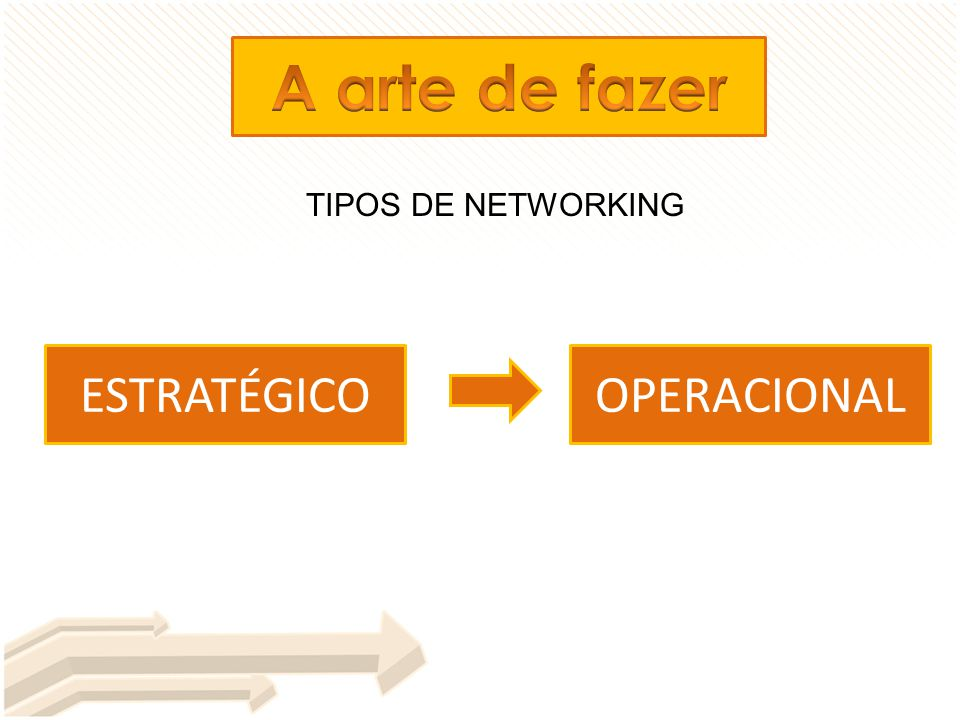 TIPOS DE NETWORKING ESTRATÉGICOOPERACIONAL