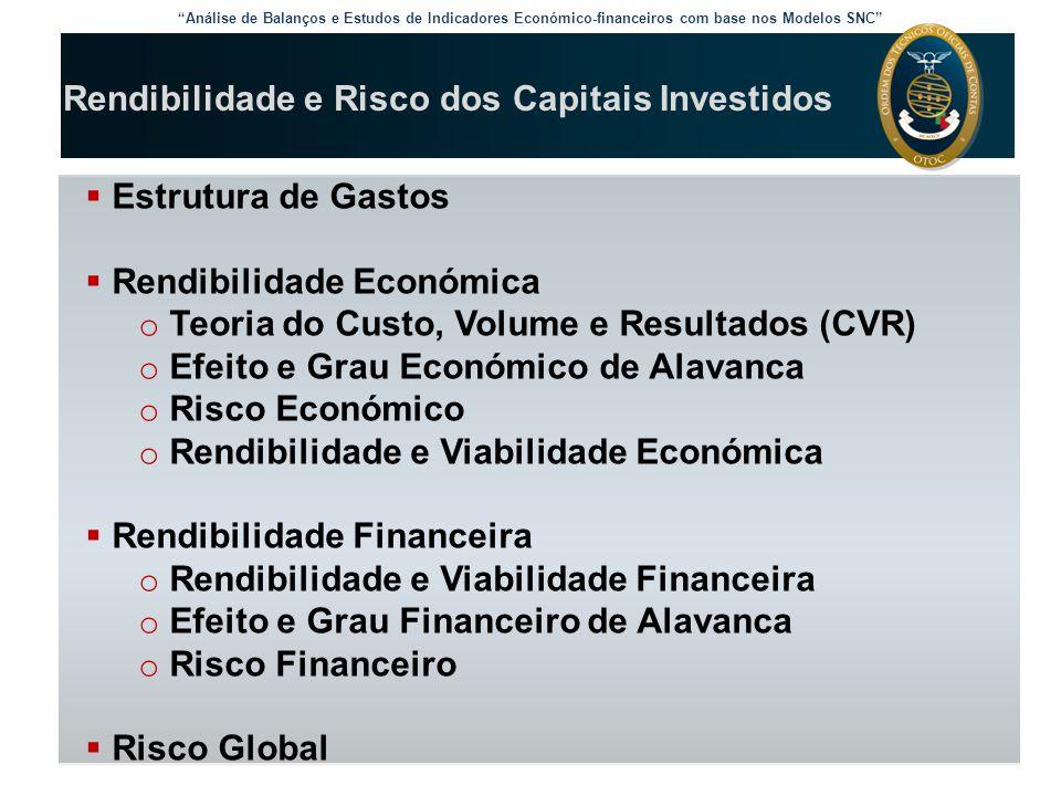 Análise de Balanços e Estudos de Indicadores Económico-financeiros com base nos Modelos SNC Risco Financeiro: probabilidade da empresa não conseguir cobrir os seus Juros e Gastos Similares de Financiamento, implicando RAI e RL negativos.