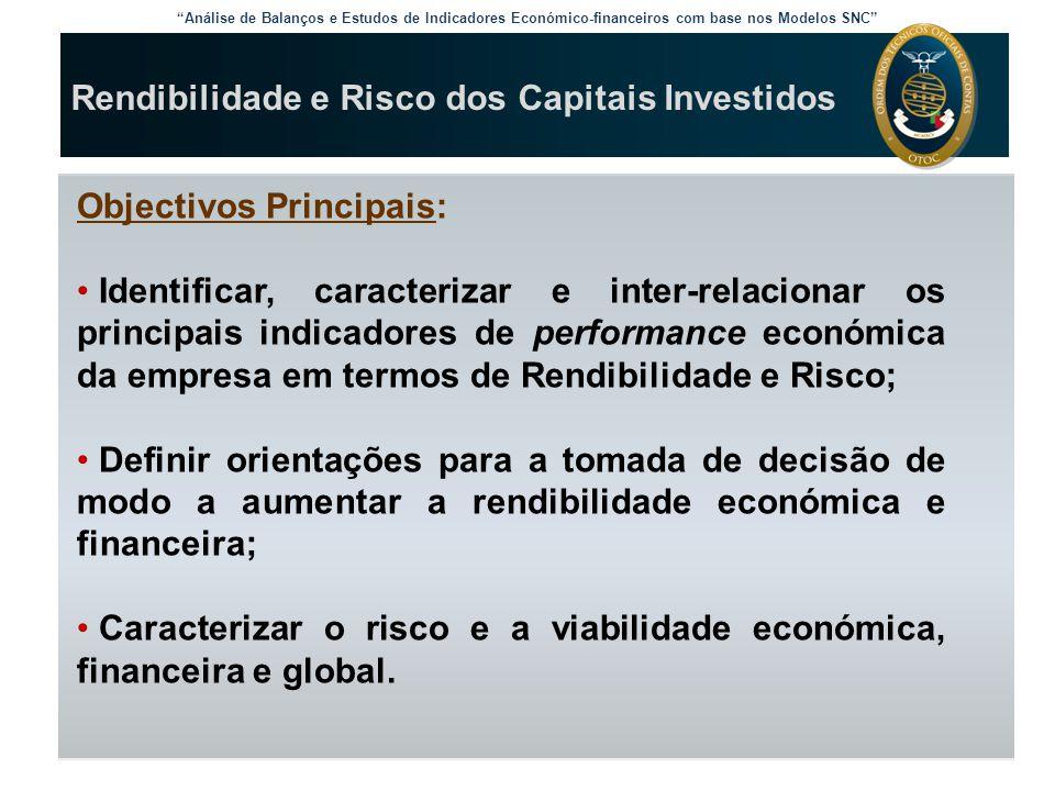 """""""Análise de Balanços e Estudos de Indicadores Económico-financeiros com base nos Modelos SNC"""" Rendibilidade e Risco dos Capitais Investidos Objectivos"""