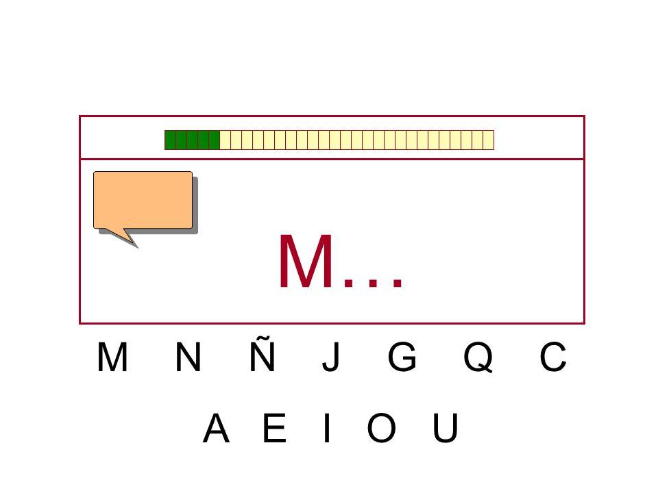 M N Ñ J G Q C A E I O U …