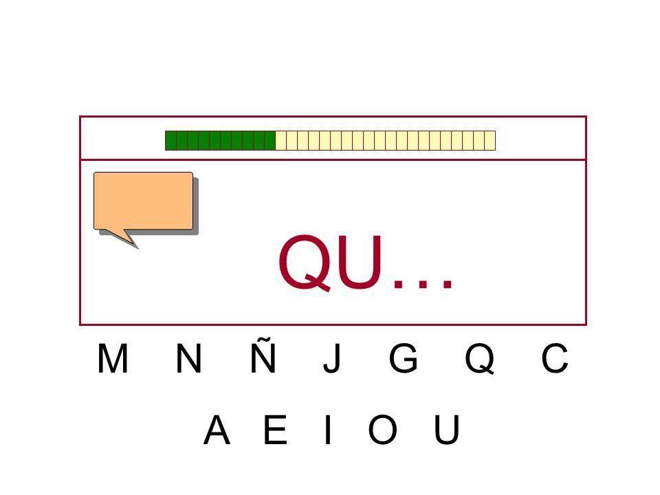 M N Ñ J G Q C A E I O U Q…