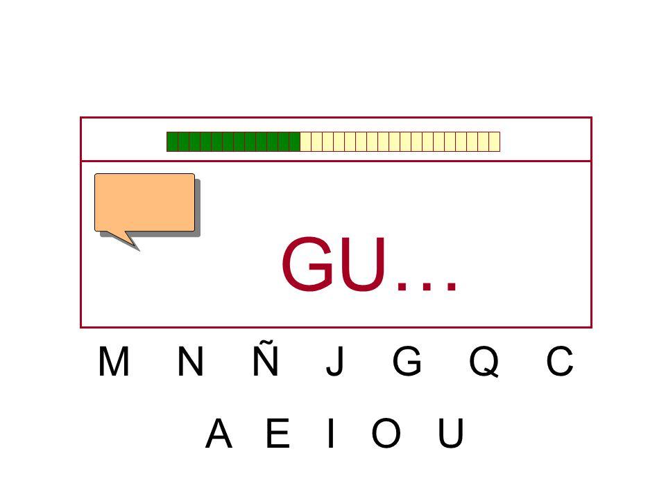 M N Ñ J G Q C A E I O U G…