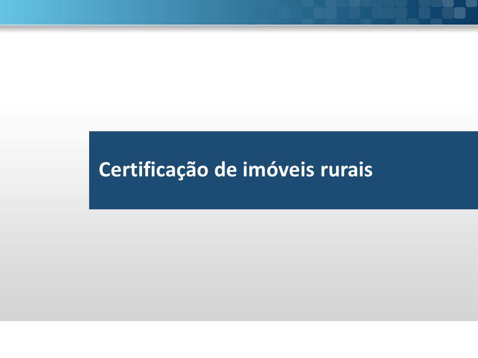 Certificação de imóveis rurais