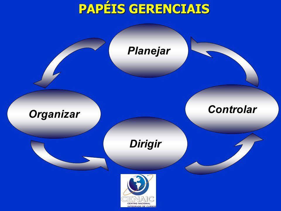 Organizar Planejar Controlar Dirigir PAPÉIS GERENCIAIS PAPÉIS GERENCIAIS