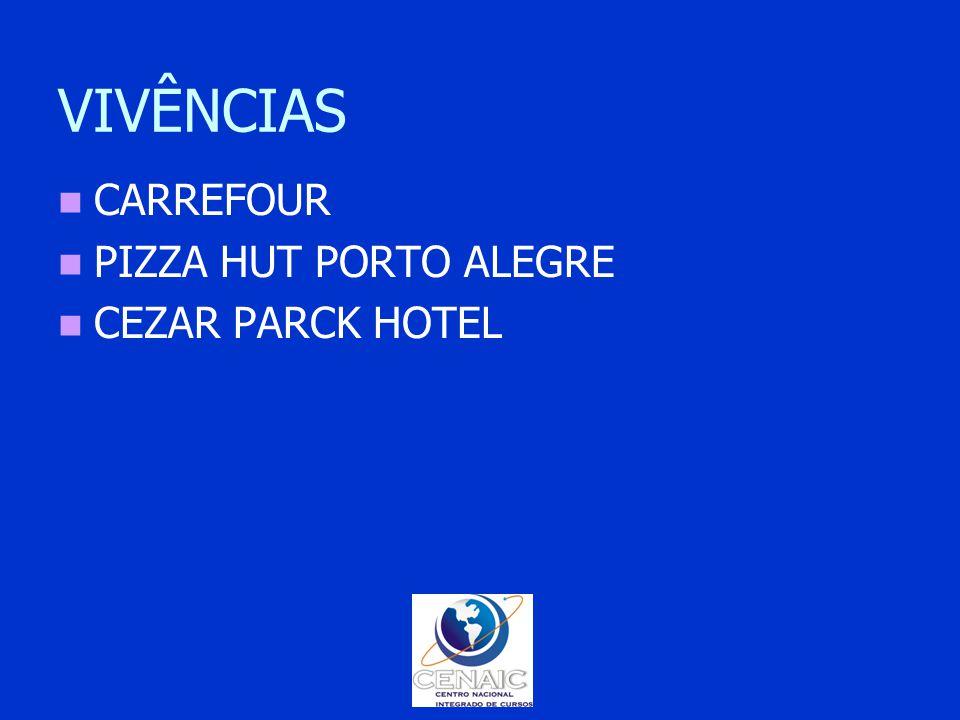 VIVÊNCIAS CARREFOUR PIZZA HUT PORTO ALEGRE CEZAR PARCK HOTEL