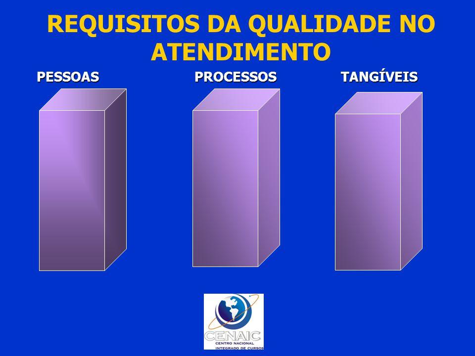 REQUISITOS DA QUALIDADE NO ATENDIMENTO PESSOAS PROCESSOS TANGÍVEIS