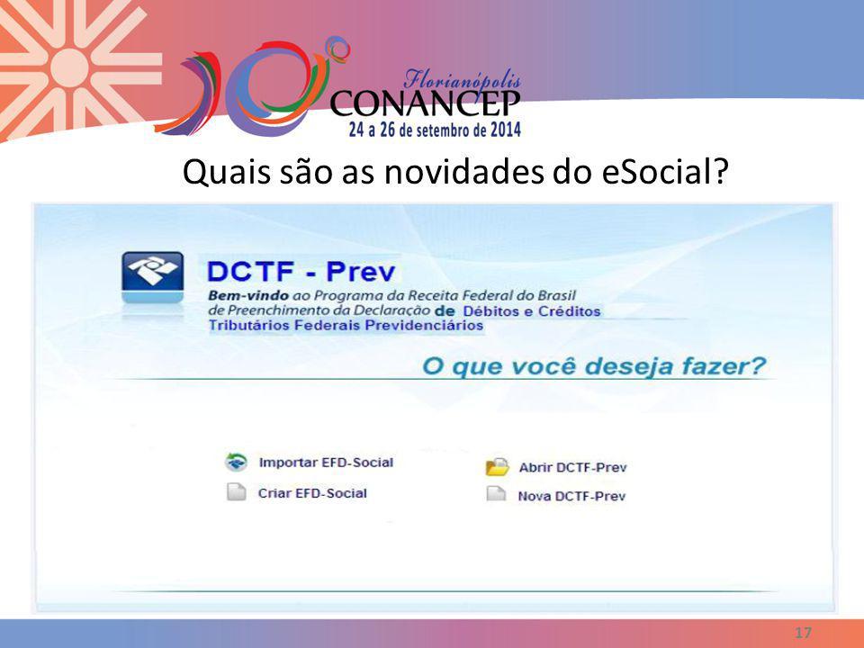Quais são as novidades do eSocial? 17
