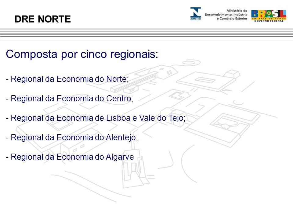 Composta por cinco regionais: - Regional da Economia do Norte; - Regional da Economia do Centro; - Regional da Economia de Lisboa e Vale do Tejo; - Re