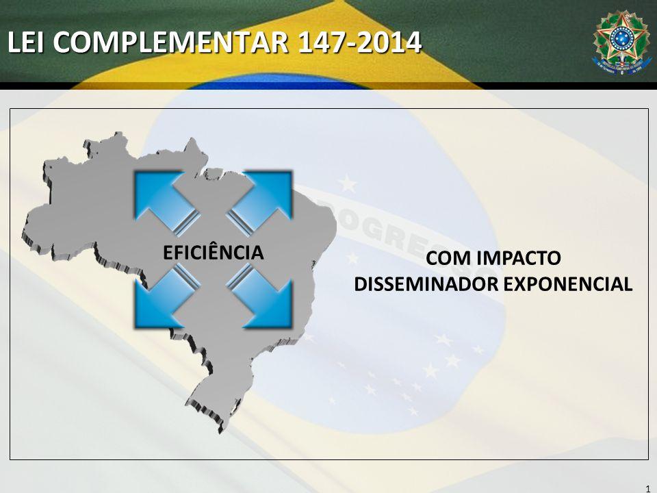 LEI COMPLEMENTAR 147-2014 10 COM IMPACTO DISSEMINADOR EXPONENCIAL EFICIÊNCIA
