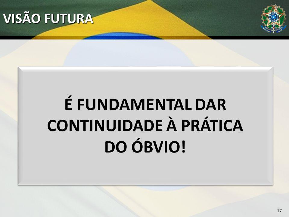 VISÃO FUTURA 17 É FUNDAMENTAL DAR CONTINUIDADE À PRÁTICA DO ÓBVIO!