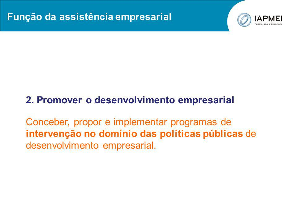 Função da assistência empresarial 3.