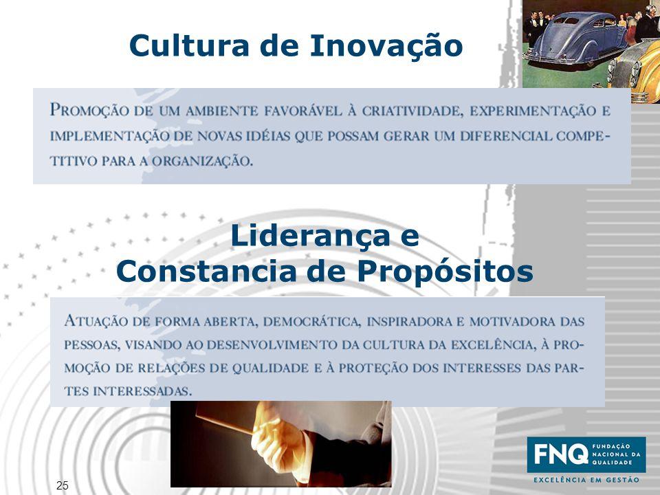 25 Cultura de Inovação Liderança e Constancia de Propósitos