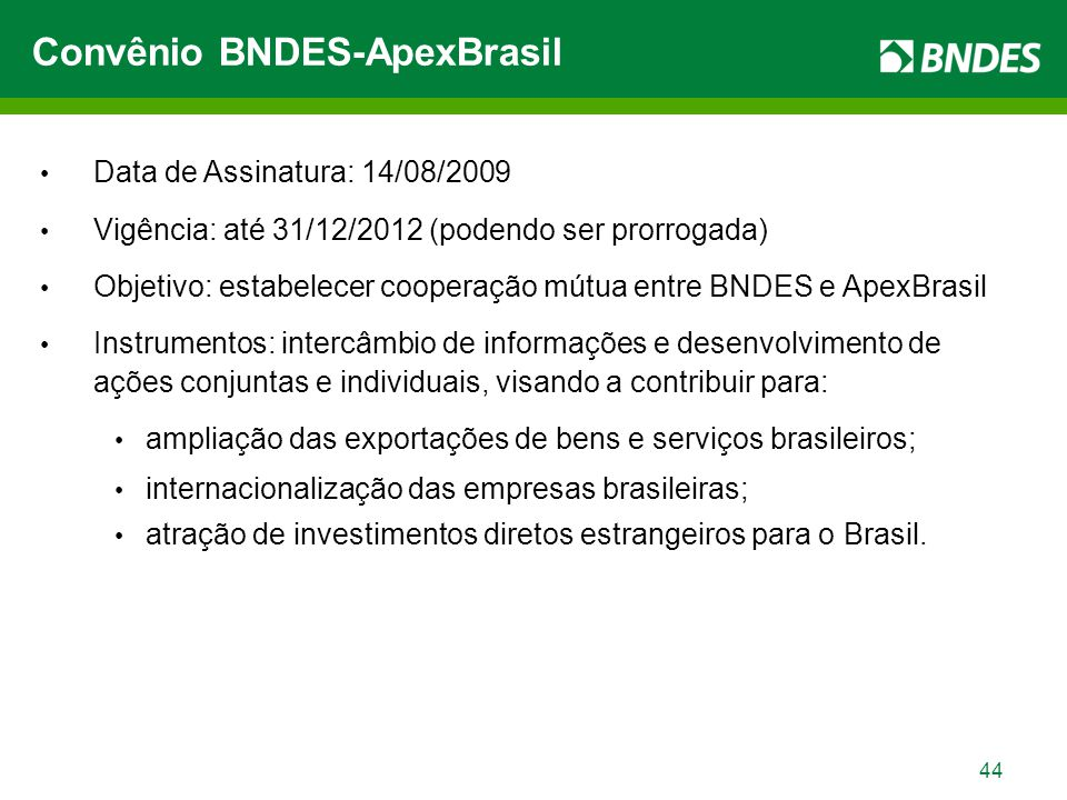 45 Portal do BNDES na Internet