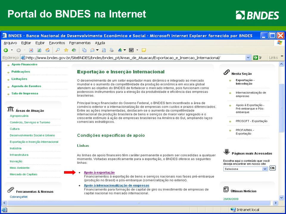 47 Portal do BNDES na Internet
