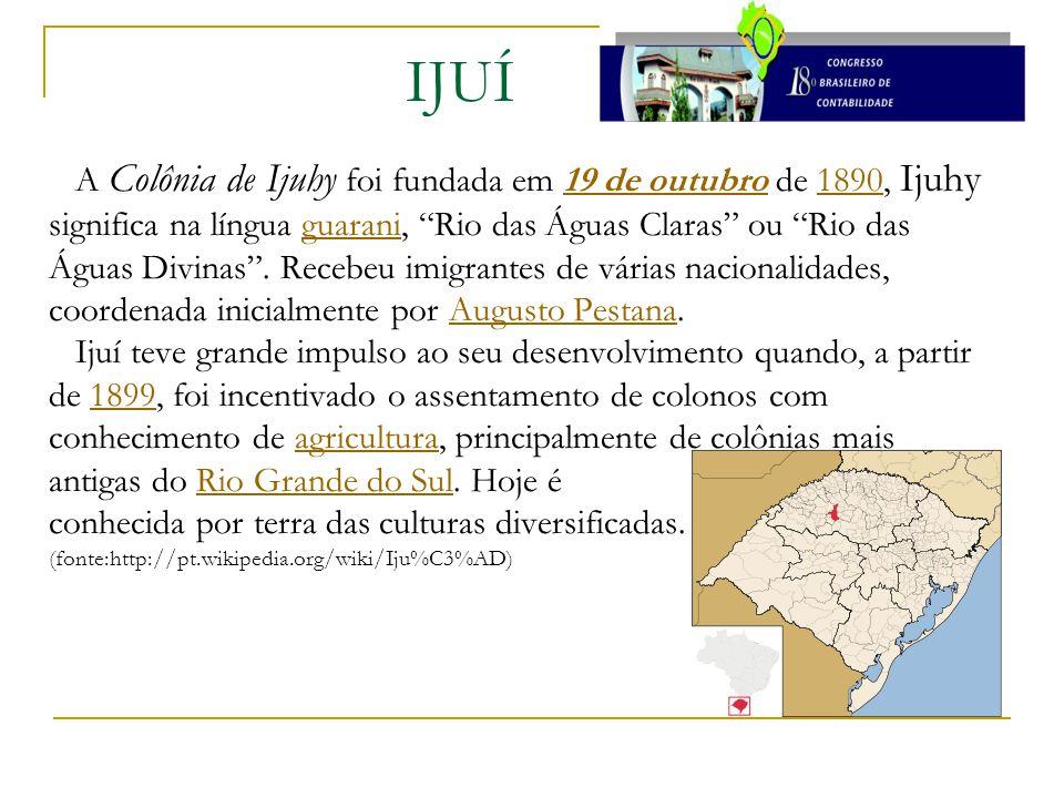 """A Colônia de Ijuhy foi fundada em 19 de outubro de 1890, Ijuhy significa na língua guarani, """"Rio das Águas Claras"""" ou """"Rio das Águas Divinas"""". Recebeu"""