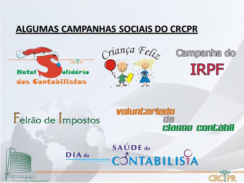 ALGUMAS CAMPANHAS SOCIAIS DO CRCPR