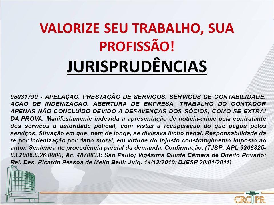 95031790 - APELAÇÃO.PRESTAÇÃO DE SERVIÇOS. SERVIÇOS DE CONTABILIDADE.