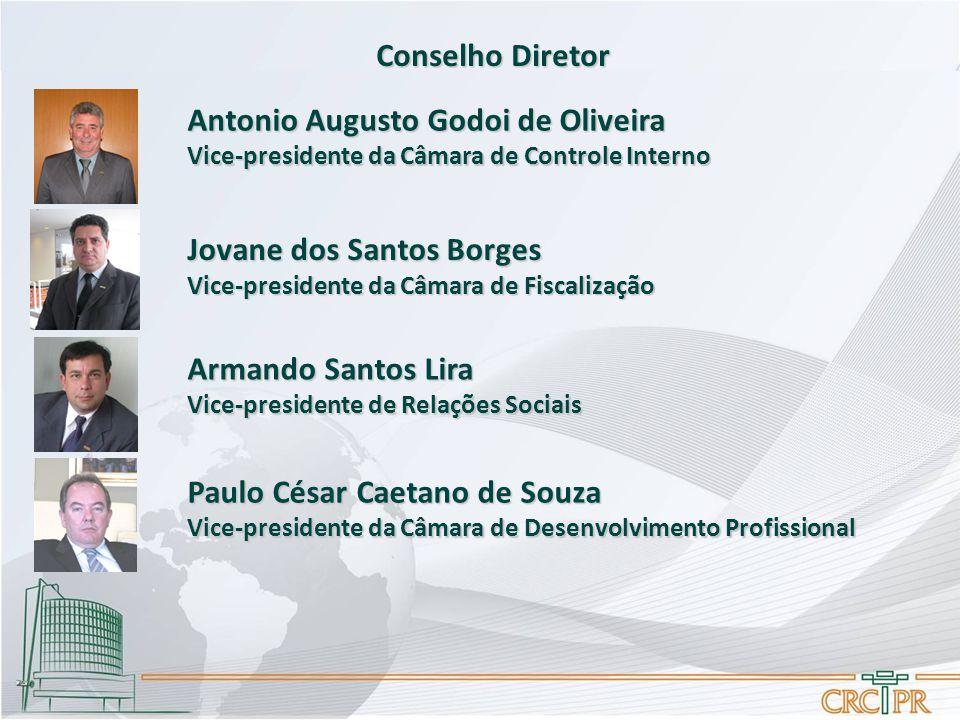 Conselho Diretor Antonio Augusto Godoi de Oliveira Vice-presidente da Câmara de Controle Interno Jovane dos Santos Borges Vice-presidente da Câmara de
