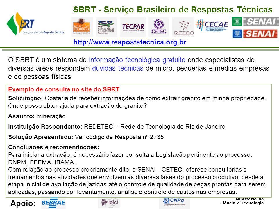 SIBRATEC – Sistema Brasileiro de Tecnologia Como funciona.