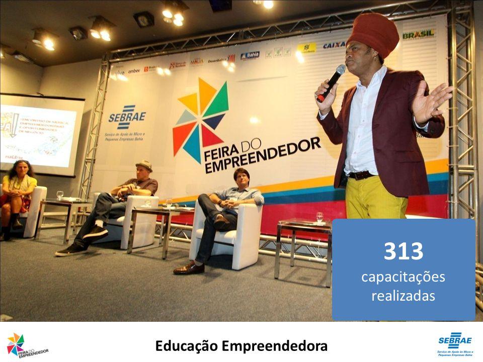 Educação Empreendedora 313 capacitações realizadas