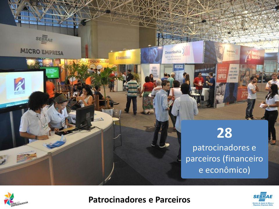 Patrocinadores e Parceiros 28 patrocinadores e parceiros (financeiro e econômico)