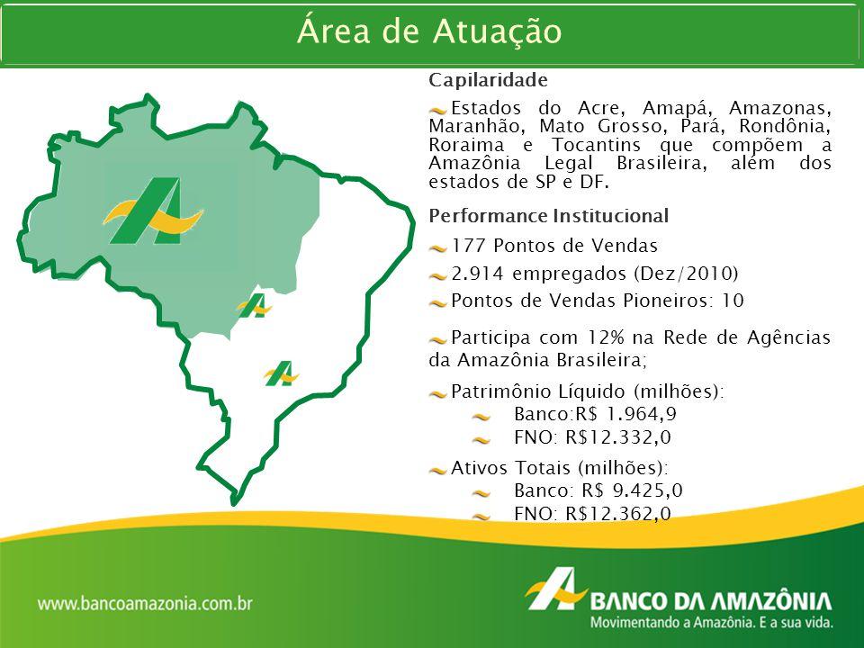 Capilaridade Estados do Acre, Amapá, Amazonas, Maranhão, Mato Grosso, Pará, Rondônia, Roraima e Tocantins que compõem a Amazônia Legal Brasileira, alé