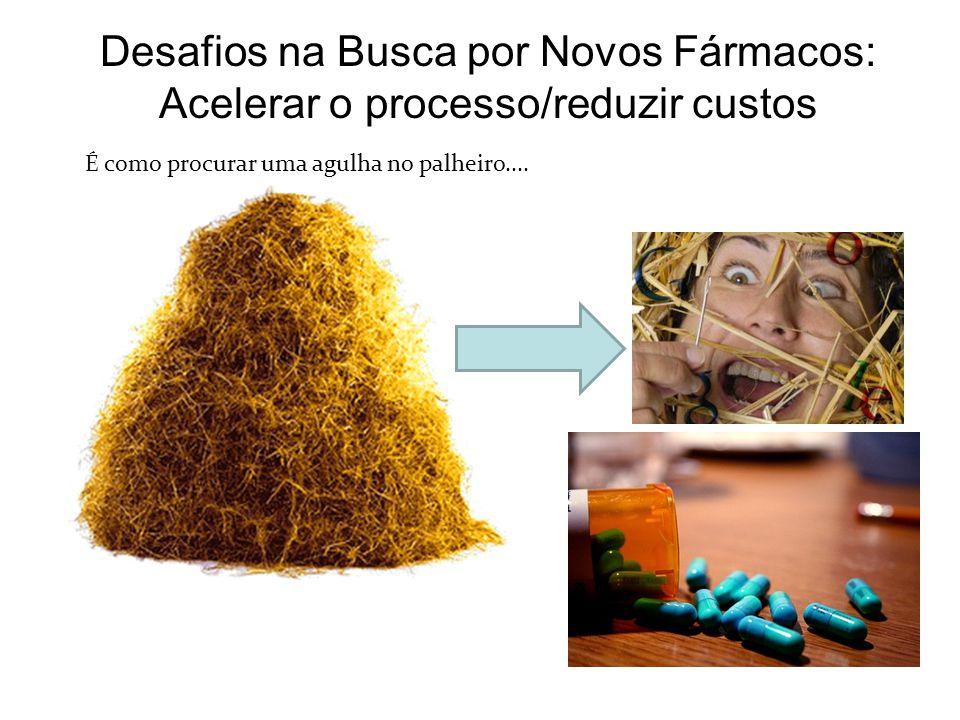 Desafios na Busca por Novos Fármacos: Acelerar o processo/reduzir custos É como procurar uma agulha no palheiro....