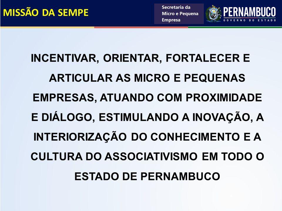 JUSTIFICATIVA DO PROJETO O papel relevante das MPEs no contexto socioeconômico de Pernambuco.