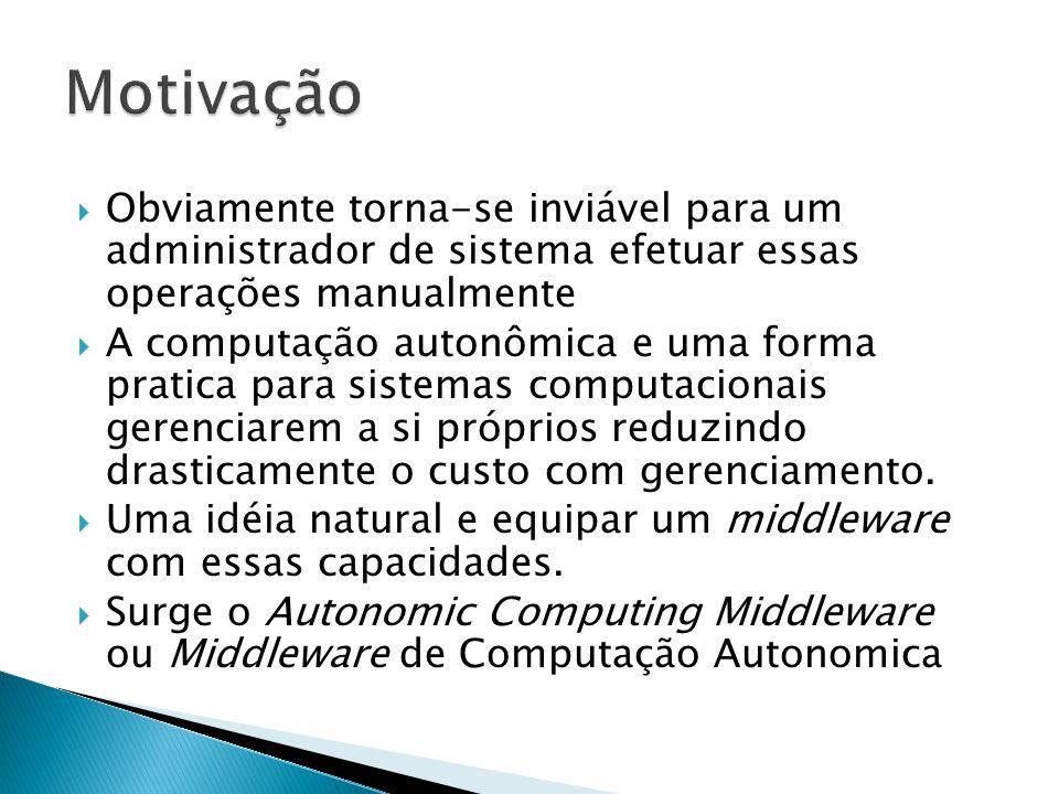  Obviamente torna-se inviável para um administrador de sistema efetuar essas operações manualmente  A computação autonômica e uma forma pratica para