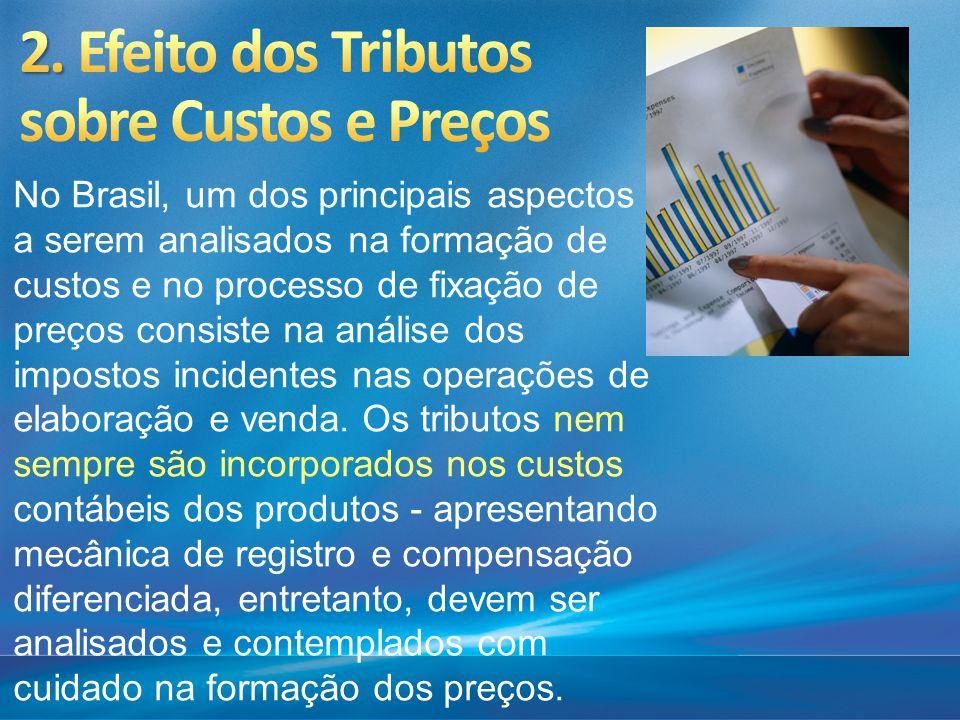 No Brasil, um dos principais aspectos a serem analisados na formação de custos e no processo de fixação de preços consiste na análise dos impostos inc
