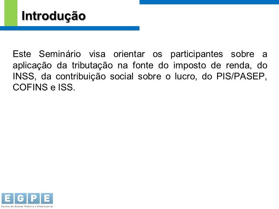 Este Seminário visa orientar os participantes sobre a aplicação da tributação na fonte do imposto de renda, do INSS, da contribuição social sobre o lu