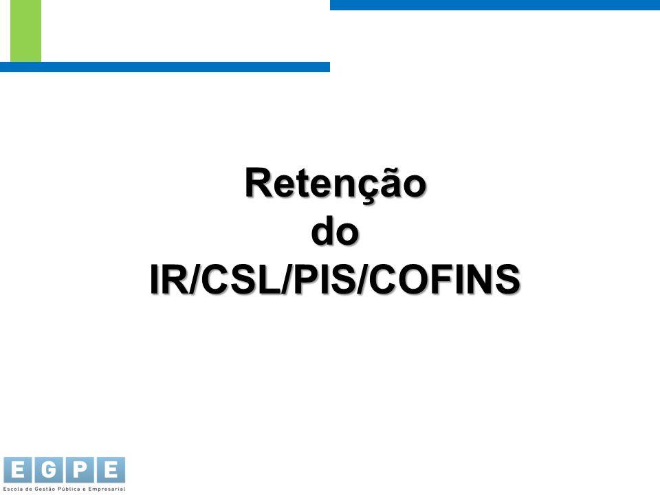 Retenção do IR/CSL/PIS/COFINS