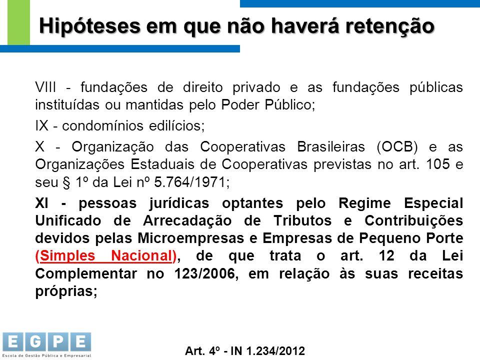 VIII - fundações de direito privado e as fundações públicas instituídas ou mantidas pelo Poder Público; IX - condomínios edilícios; X - Organização da
