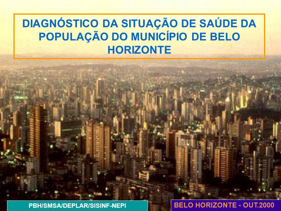 DIAGNÓSTICO DA SITUAÇÃO DE SAÚDE DA POPULAÇÃO DO MUNICÍPIO DE BELO HORIZONTE BELO HORIZONTE - OUT.2000 PBH/SMSA/DEPLAR/SISINF-NEPI