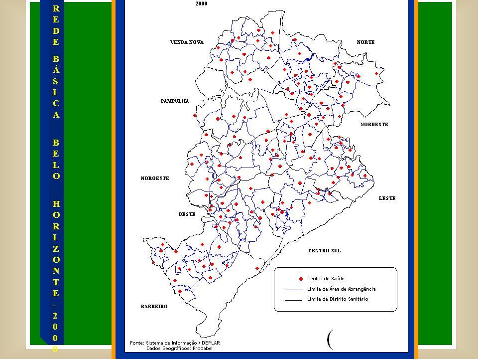 Total de Consultas de Clínica Médica Realizadas em Belo Horizonte pela Rede Contratada, Própria e HOB, no período de 1996 a 1999.