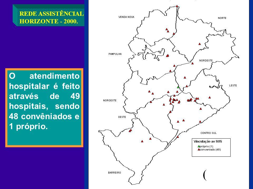 REDE ASSISTÊNCIAL HOSPITALAR EM BELO HORIZONTE - 2000.