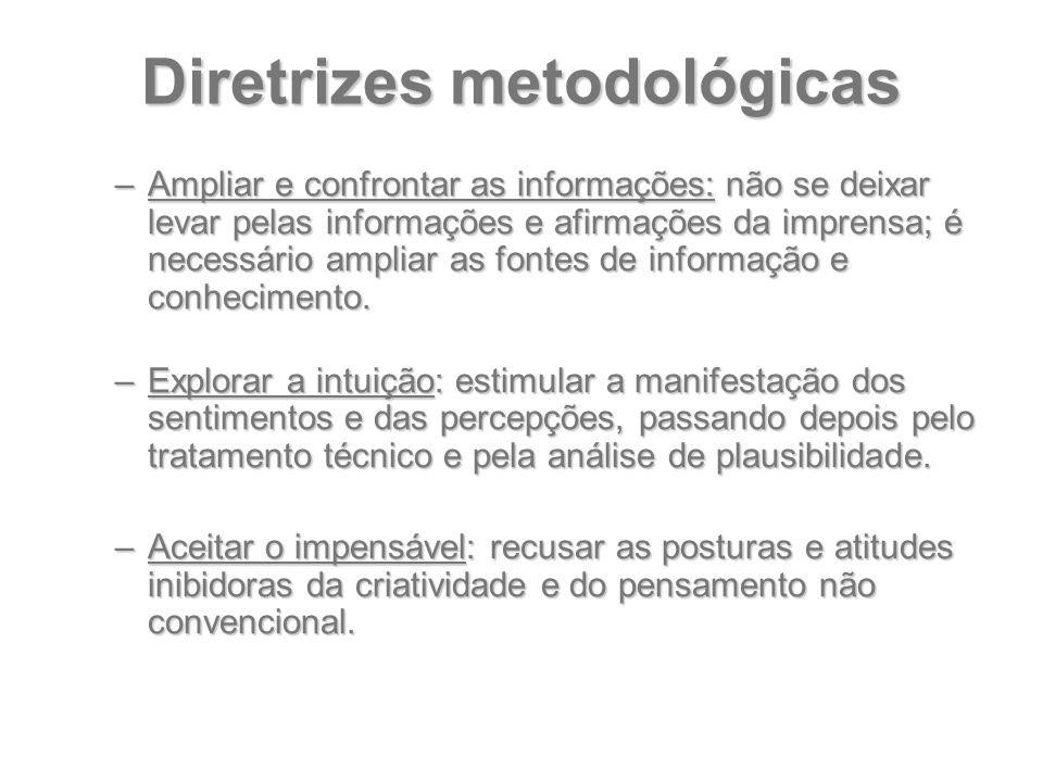 Diretrizes metodológicas –Ampliar e confrontar as informações: não se deixar levar pelas informações e afirmações da imprensa; é necessário ampliar as
