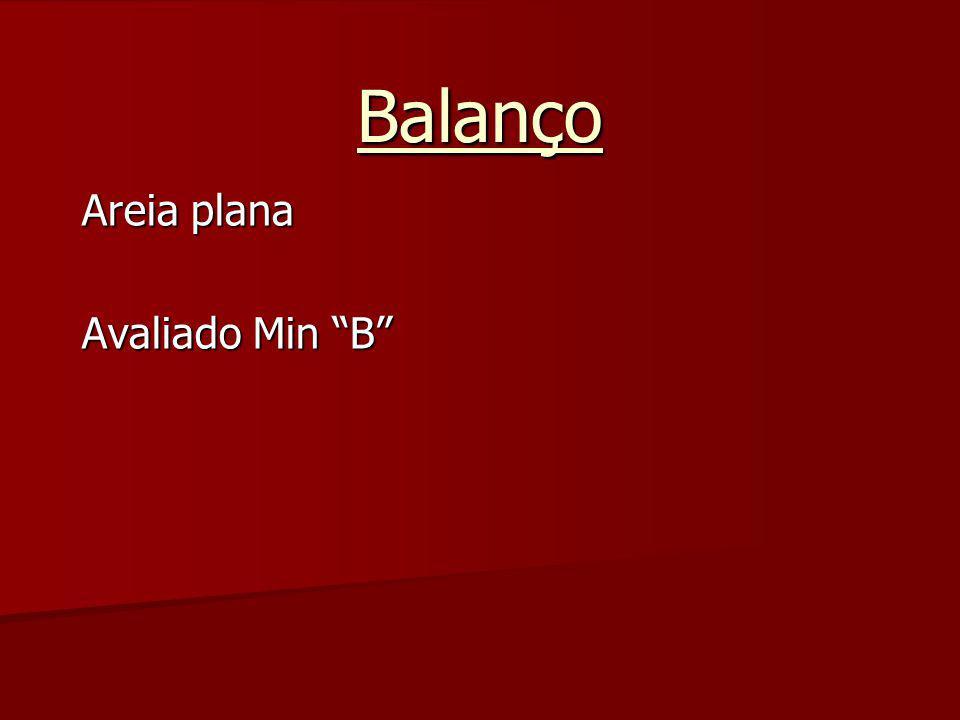 """Balanço Areia plana Avaliado Min """"B"""""""