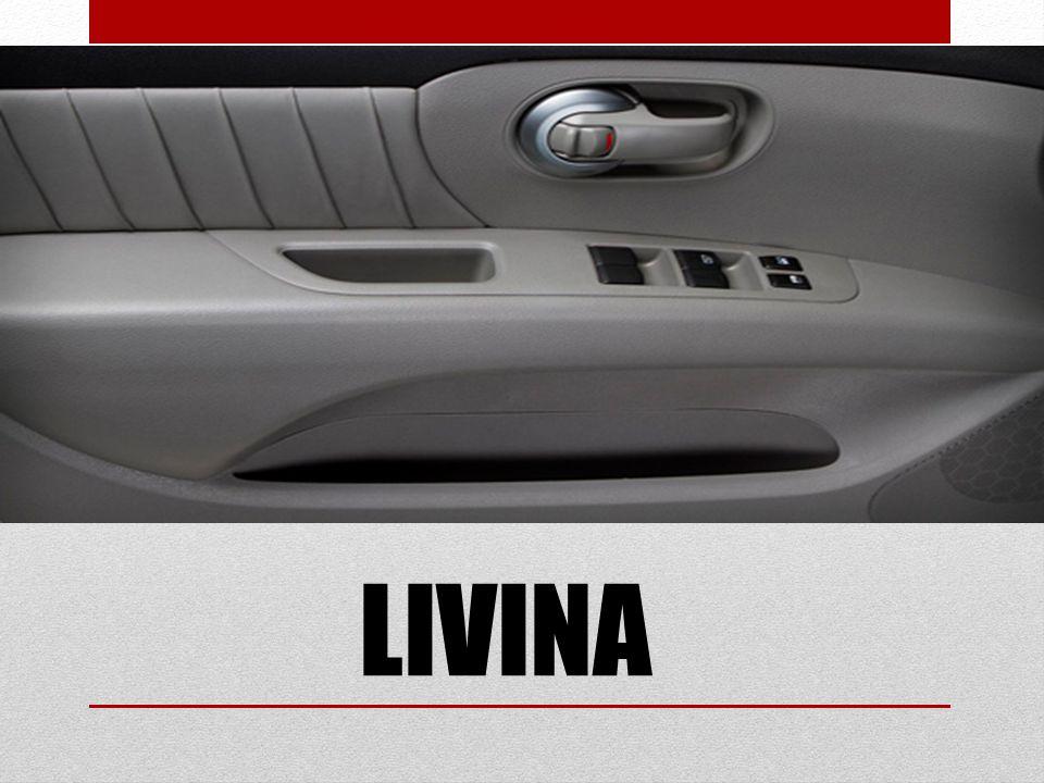 LIVINA 1.6 Câmbio manual de 5 marchas, acelerador eletrônico do motor, ar- condicionado, banco traseiro rebatível, direção elétrica com assistência variável, desembaçador do vidro traseiro, limpador do vidro traseiro e lavador, porta copo dianteiro e traseiro, retrovisores com regulagem elétrica, travamento/destravamento elétrico com controle e automático 24 Km/h, vidros dianteiros e traseiros elétricos com a função one touch para o motorista, aro 14 calotas, air bag motorista, barras de proteção laterais, imobilizador de ignição, brake light, cintos de segurança dianteiros e 2 traseiros 3 pontos e 1 traseiro 2 pontos, repetidores laterais de direção.